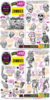 How to THINK when you draw ZOMBIES tutorial!