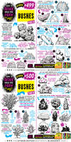 How to THINK when you draw BUSHES tutorial!