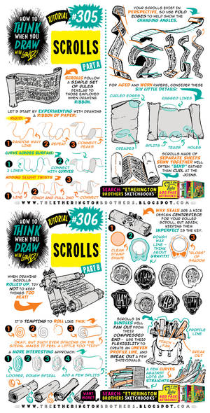 How to THINK when you draw SCROLLS tutorial!