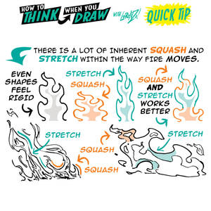 How to THINK when you draw FIRE QUICK TIP!