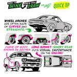 How to THINK when you draw MUSCLE CARS QUICK TIP!