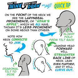 How to THINK when you draw NECKS QUICK TIP!