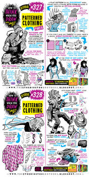 How to THINK when you draw PATTERNED CLOTHING!