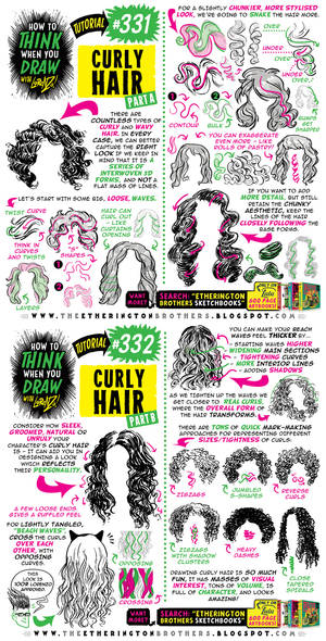 How to THINK when you draw CURLY HAIR tutorial!
