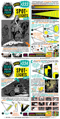How to THINK when you draw SPOTLIGHTS tutorial!
