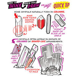 How to THINK when you draw CRYSTALS QUICK TIP!