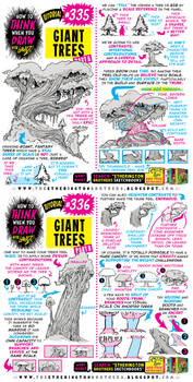 How to THINK when you draw GIANT TREES tutorial!