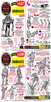 How to THINK when you draw BANDAGES tutorial!