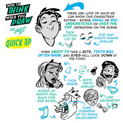 How to THINK when you draw EATING QUICK TIP!