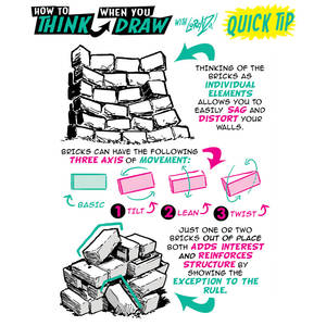 How to THINK when you draw BRICK WALLS QUICK TIP!
