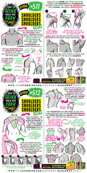 How to THINK when you draw SHOULDERS tutorial!