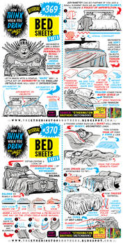 How to THINK when you draw BEDSHEETS tutorial!