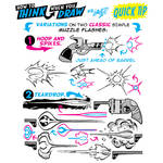 How to THINK when you draw MUZZLE FLASH QUICK TIP!