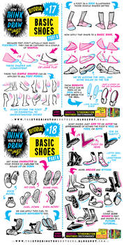 How to THINK when you draw BASIC SHOES tutorial!
