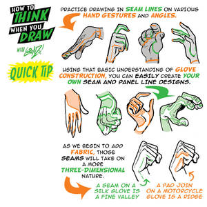 How to THINK when you draw GLOVES QUICK TIP!