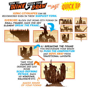 How to THINK when you draw CITYSCAPES QUICK TIP!