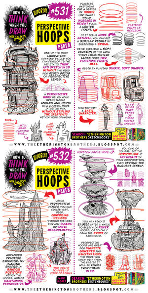 How to THINK when you draw PERSPECTIVE HOOPS!