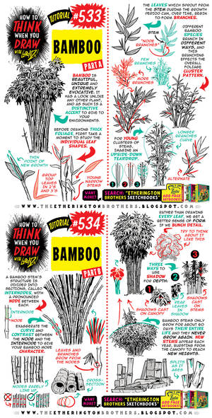 BRAND NEW TUTORIAL! How to draw BAMBOO!