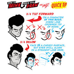 How to THINK when you draw HEAD ANGLES QUICK TIP!
