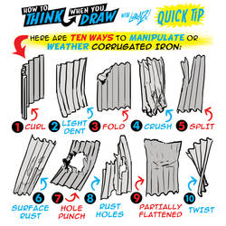 How to THINK when you draw CORRUGATED IRON tip!