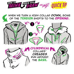 How to THINK when you draw COLLARS QUICK TIP!