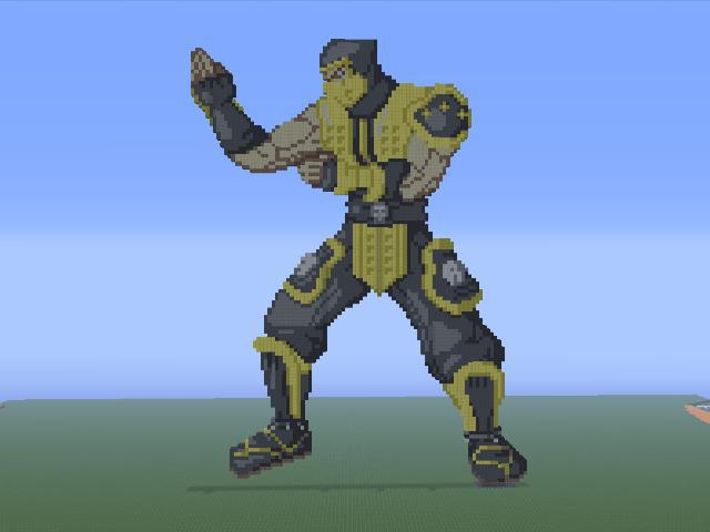 Scorpion Minecraft Pixel Art by Cable13