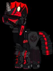 My Fallout Equestria Oc in Steel Rangers armor