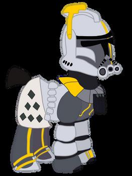 Clone Commander Blitz into Pony