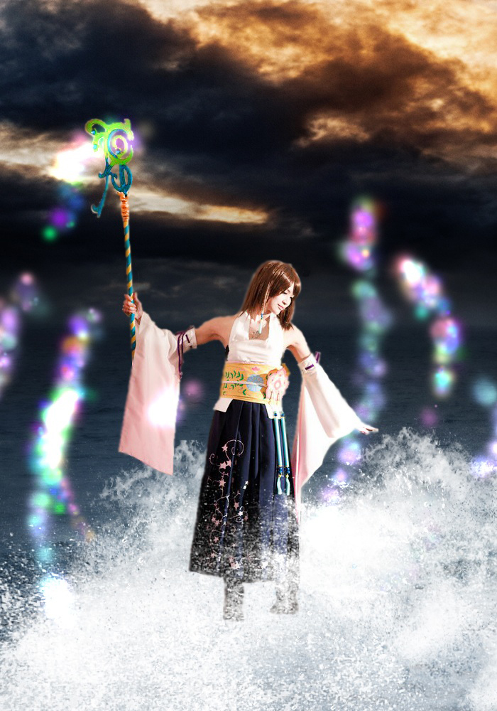 Yuna Photo Manip. by me0w-kittyy