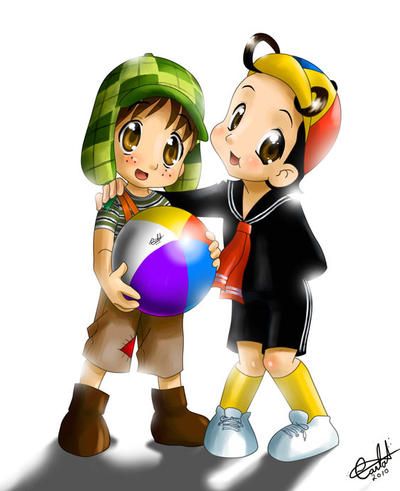 Chibi - Chaves(Chavo) e Quico by MistressAinley