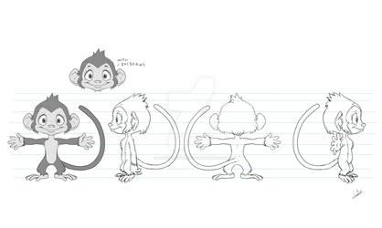 Monkey model sheet