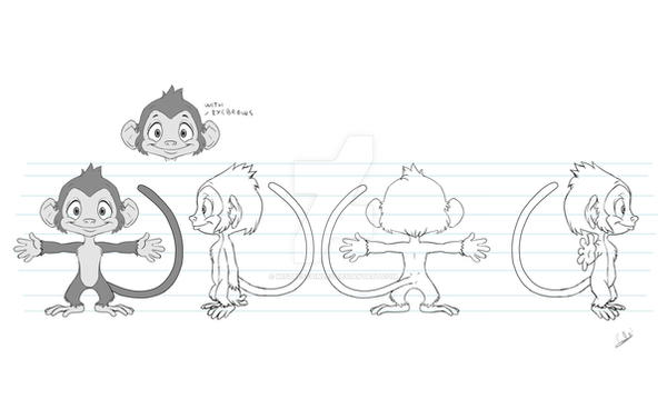 Monkey model sheet by MistressAinley