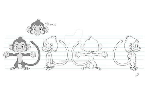 Monkey model sheet by MistressAinley
