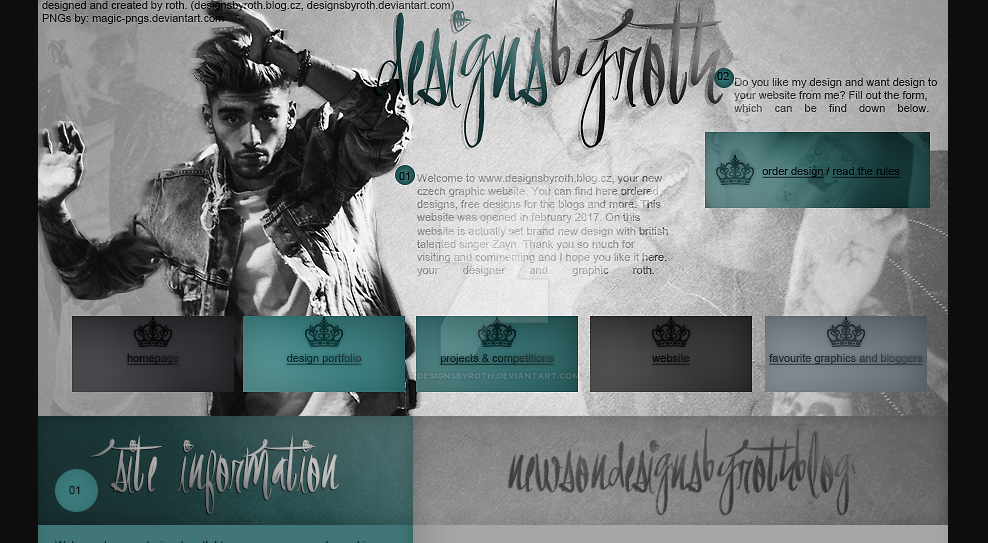#1 design version ft. ZAYN - designsbyroth.blog.cz by designsbyroth