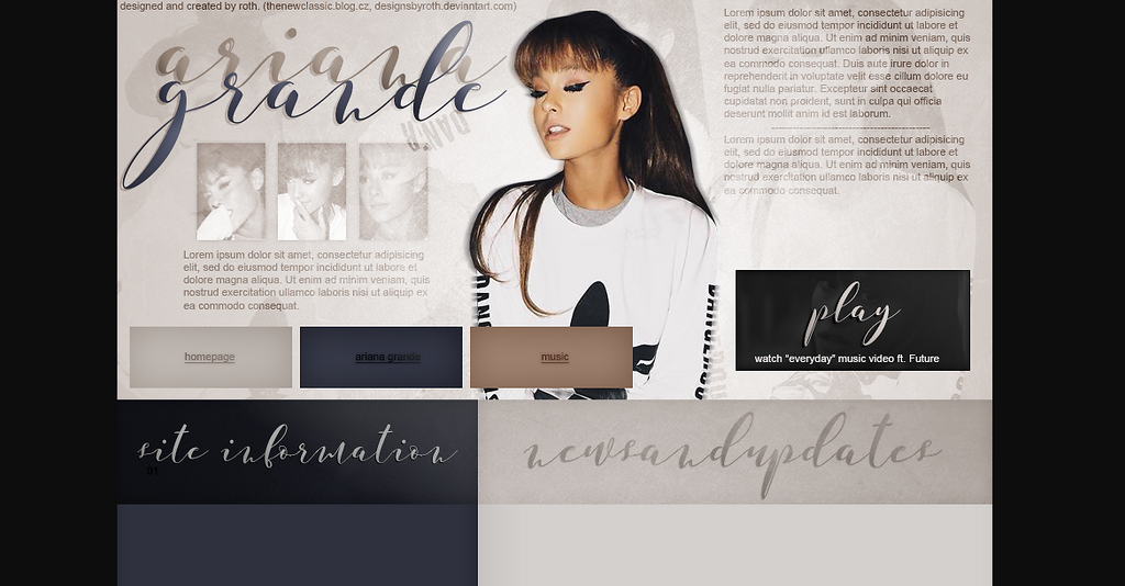 ARIANA GRANDE FREE DESIGN by designsbyroth
