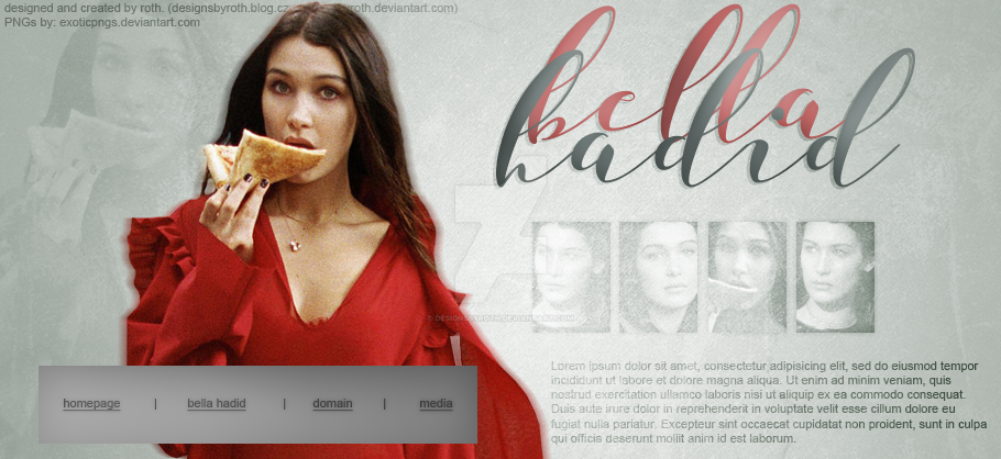 BELLA HADID FREE HEADER by designsbyroth