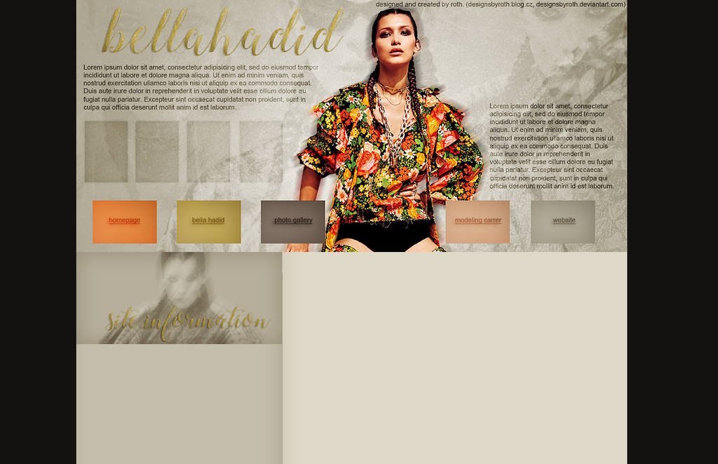 BELLA HADID FREE DESIGN by designsbyroth
