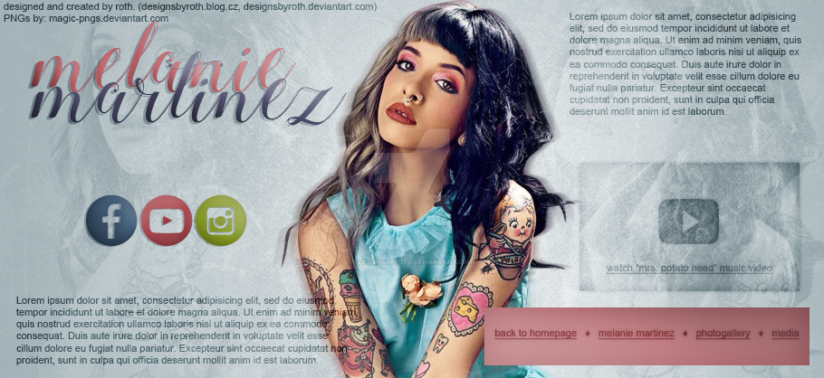 MELANIE MARTINEZ FREE HEADER/DESIGN by designsbyroth