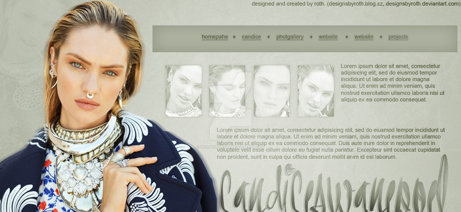 CANDICE SWANEPOEL FREE HEADER/DESIGN by designsbyroth