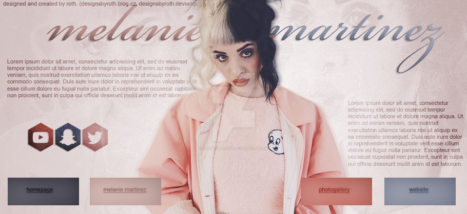 MELANIE MARTINEZ FREE HEADER/DESIGN #3 by designsbyroth