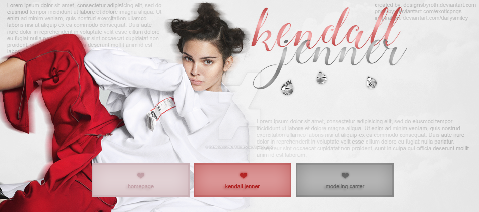 free header ft. kendall jenner by designsbyroth