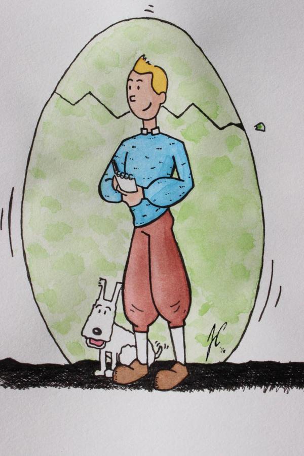 Tintin 'n Milu by jusbrublis