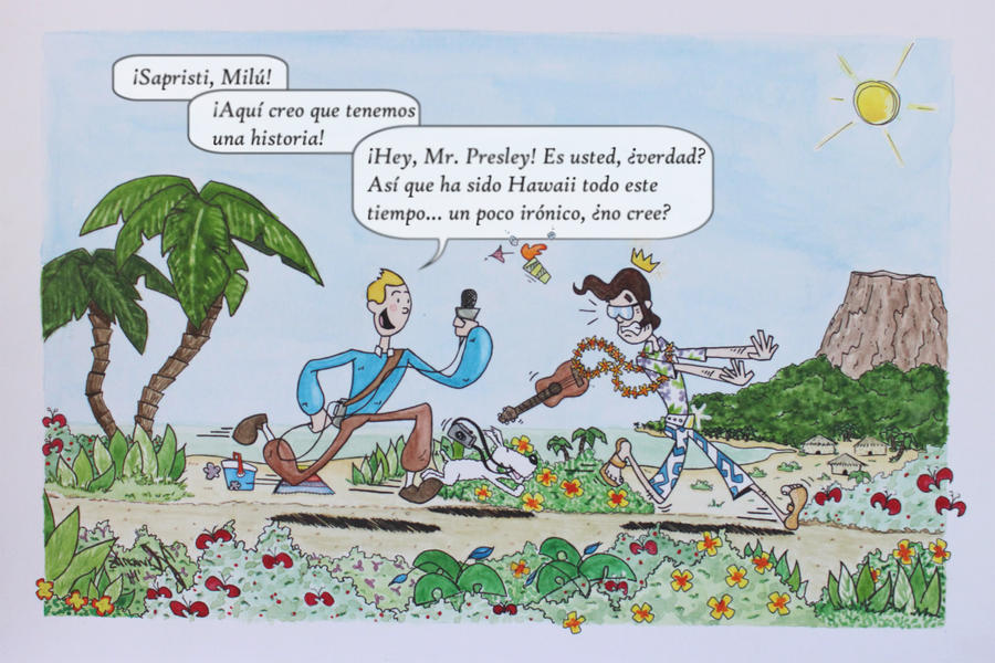 Tintin Milu Elvis by jusbrublis
