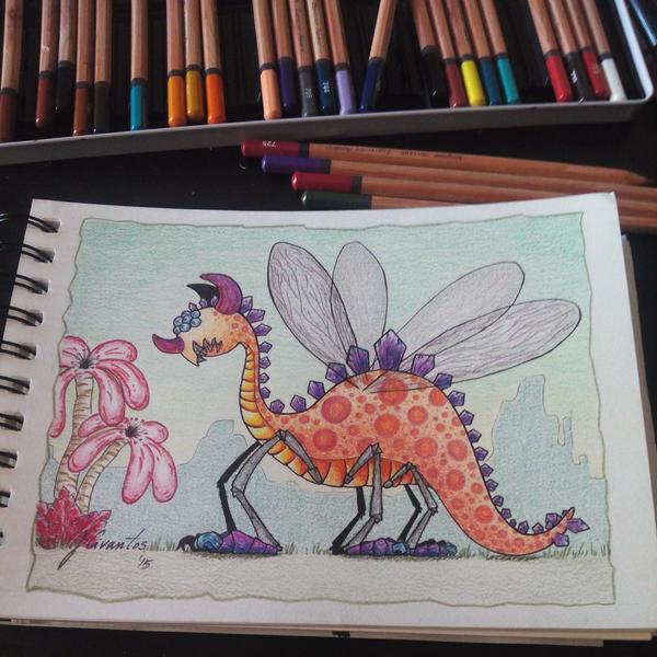Imaginary Dinosaur by jusbrublis