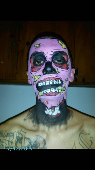 Zombie pop art make up  by ipainturface