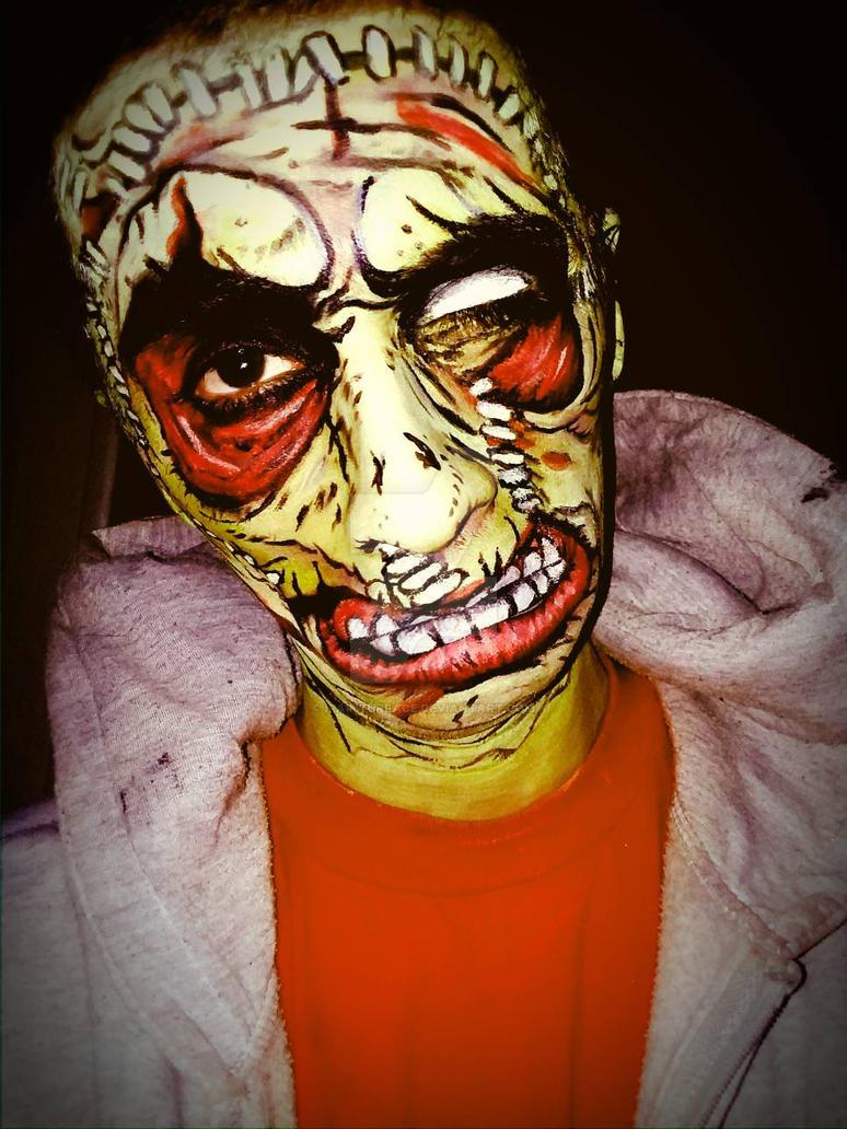 #zombiepopart # zombie pop art make up by ipainturface