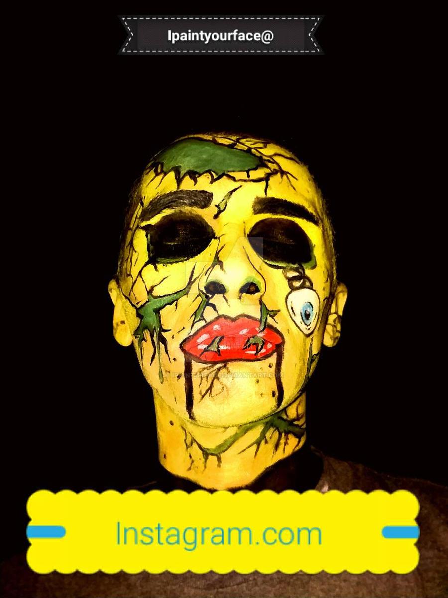 #zombiepopart #popartzombie zombie #facepaint  by ipainturface
