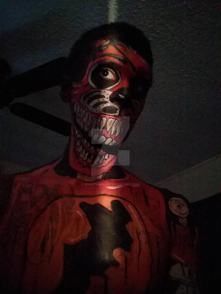 five nights at freddys facepaint  by ipainturface