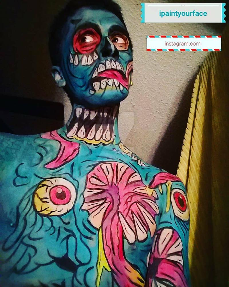 #zombiepopart #popartzombie #zombiepopartmakeup ## by ipainturface