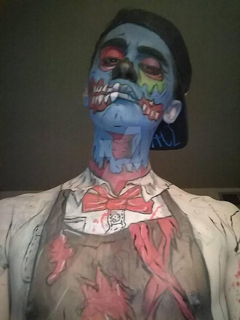 zombie ice cream man   by ipainturface